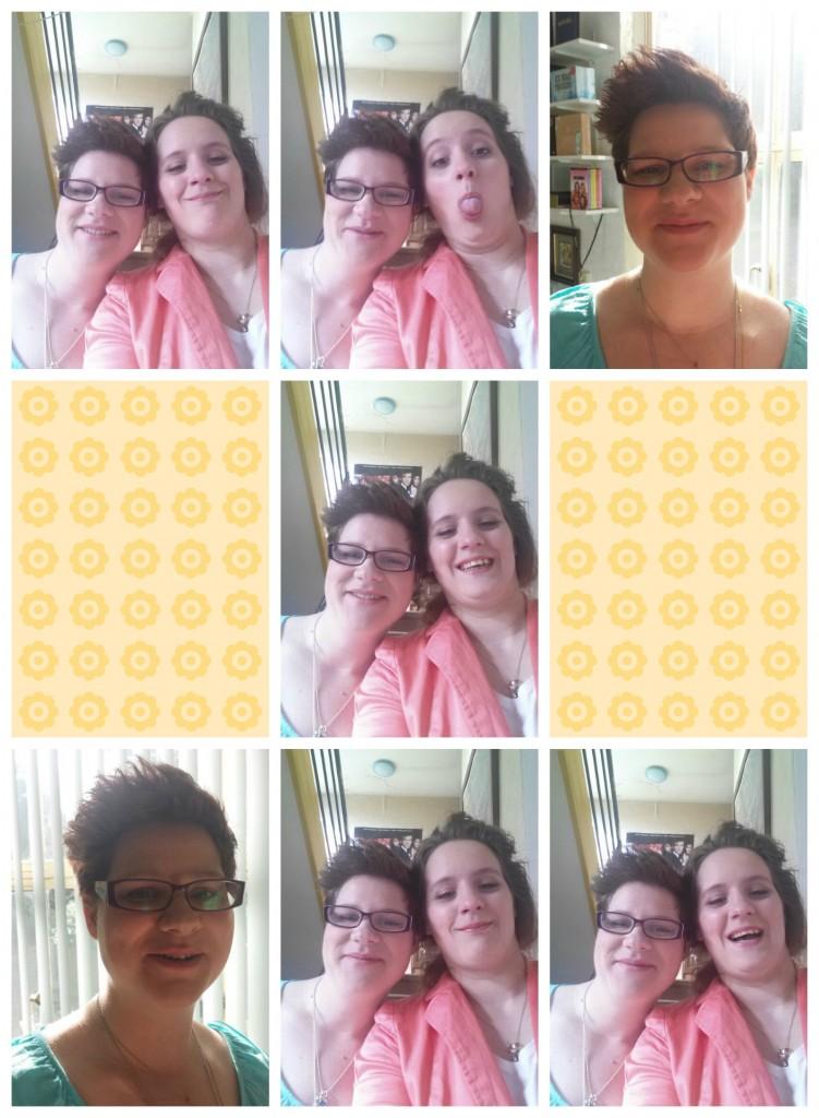 selfies met vriendin